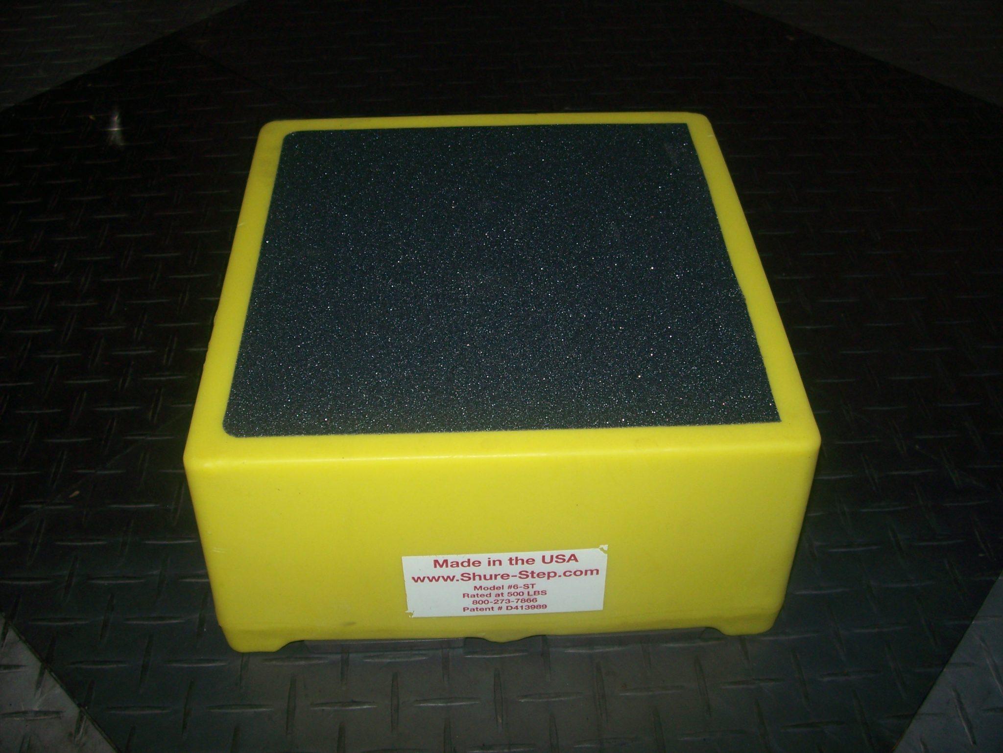 6 Inch Step Stool Yellow Shure Step Com