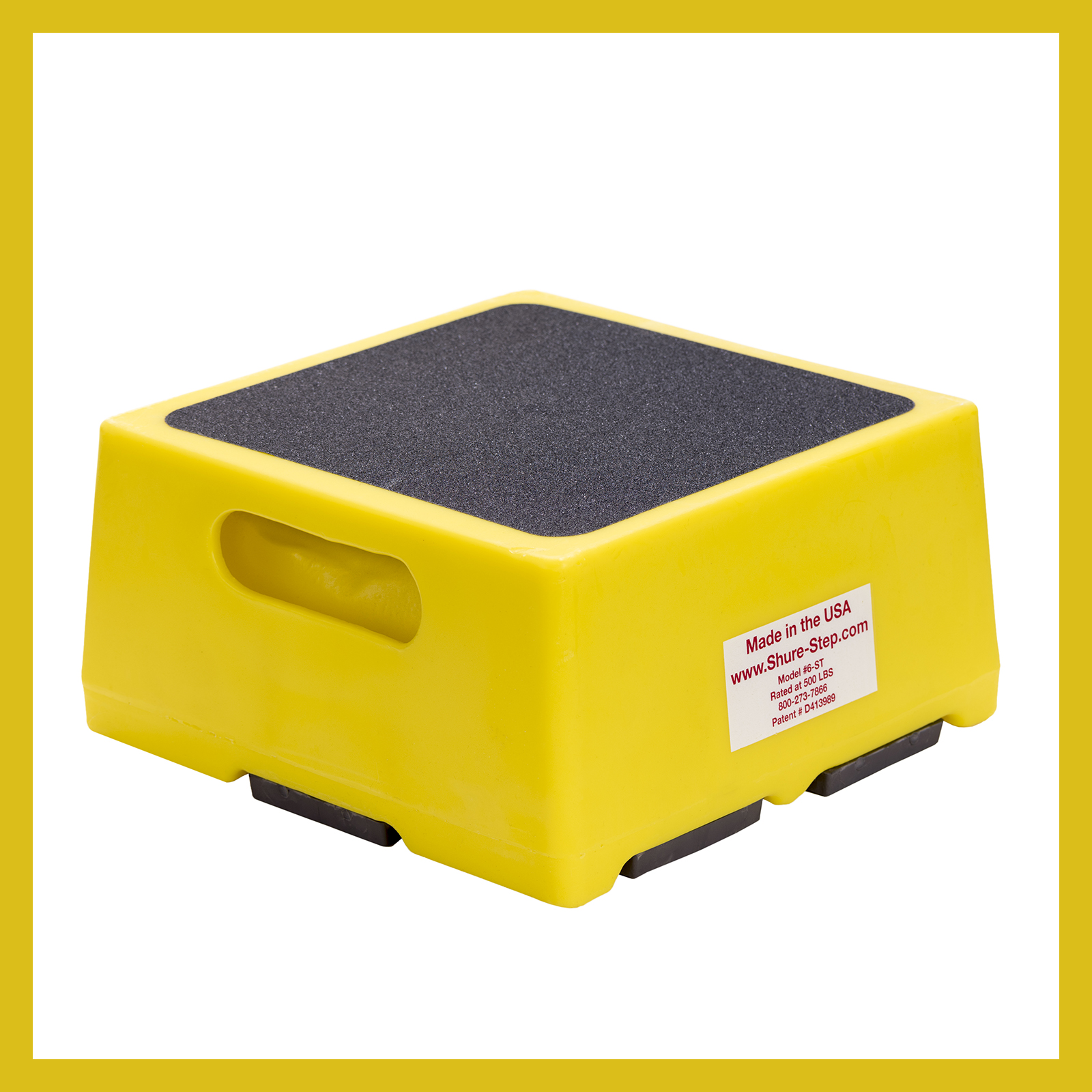 6 Inch Step Stool Yellow Shure Step Com