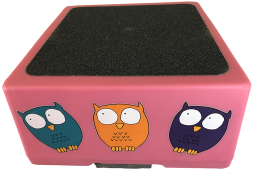 best safest kids step stool - pink owls