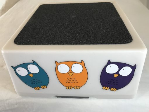 best safest step stool for kids - white owl